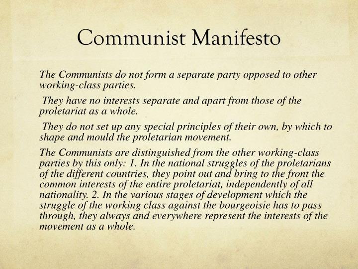 Manifesto Image: Karl Marx PowerPoint Presentation