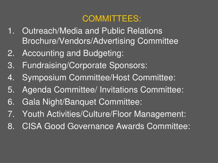 COMMITTEES: