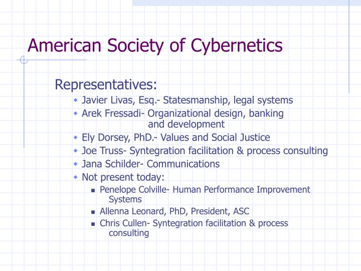 American Society of Cybernetics