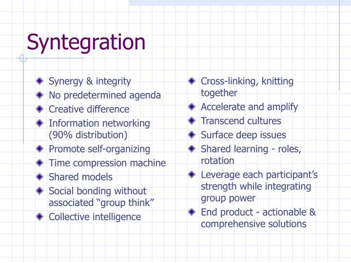 Synergy & integrity