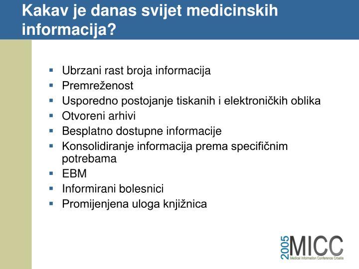 Kakav je danas svijet medicinskih informacija?