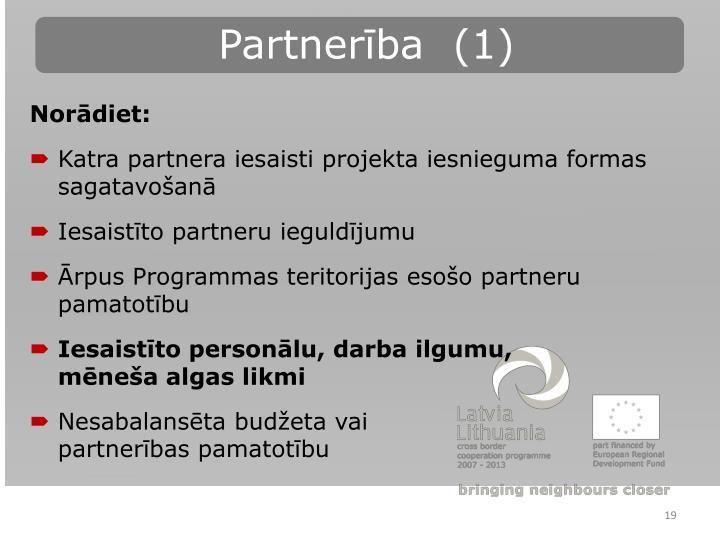 Partnerība  (1)
