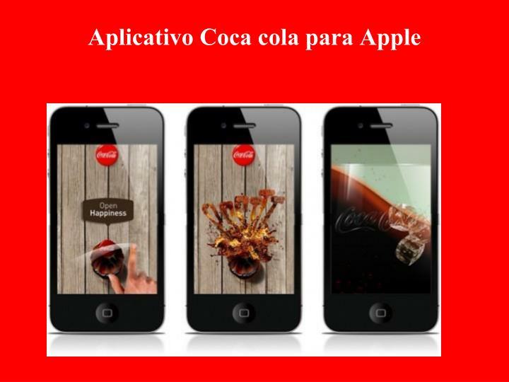 Aplicativo Coca cola para Apple