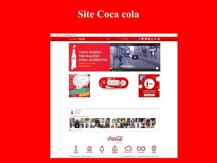 Site Coca cola