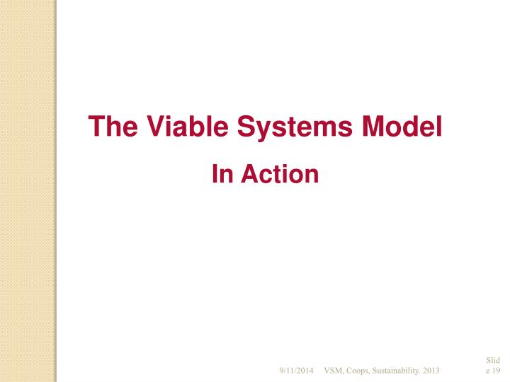 The Viable Systems Model