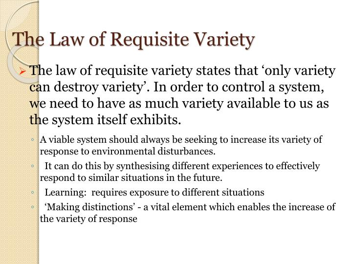 The Law of Requisite Variety