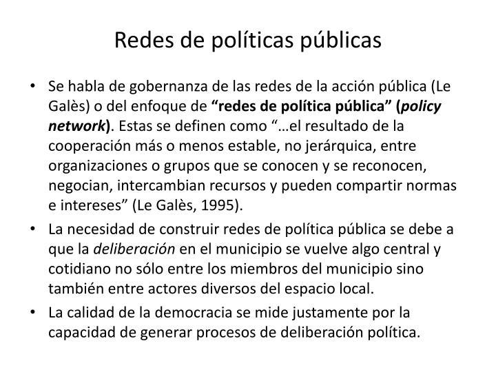 Redes de políticas públicas