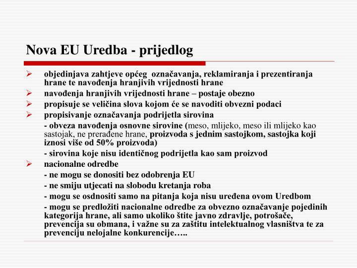 Nova EU Uredba - prijedlog