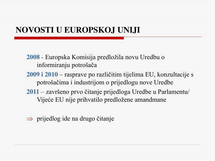 NOVOSTI U EUROPSKOJ UNIJI
