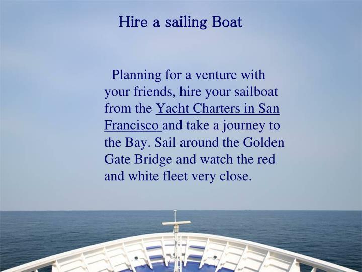 Hire a sailing Boat