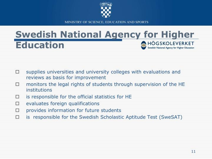 Swedish National Agency for Higher Education