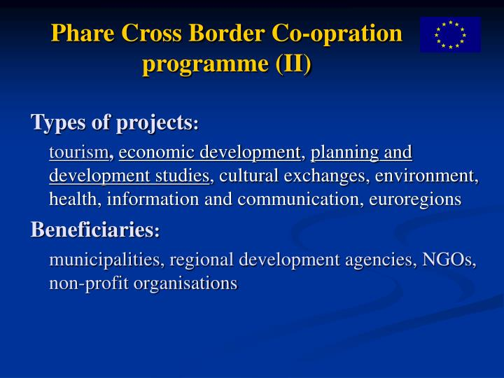 Phare Cross Border Co-opration programme (II)