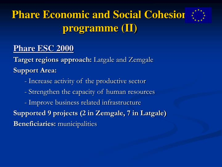 Phare Economic and Social Cohesion programme (II)