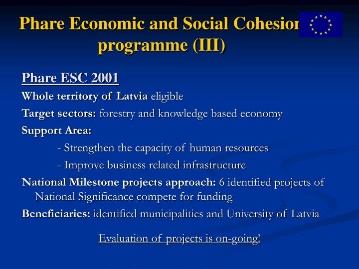 Phare Economic and Social Cohesion programme (III)