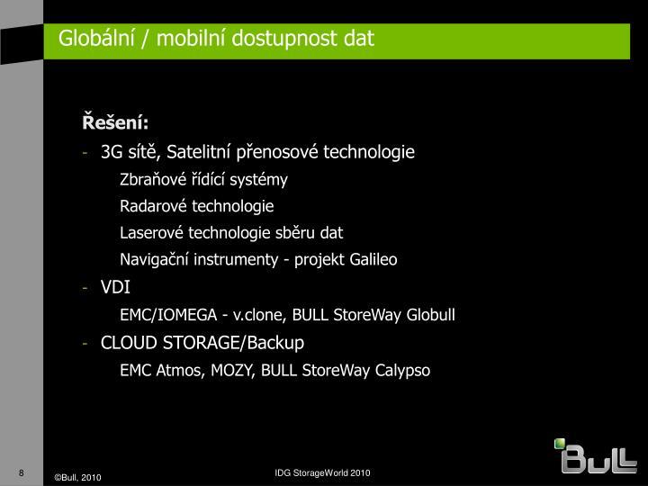 Globální / mobilní dostupnost