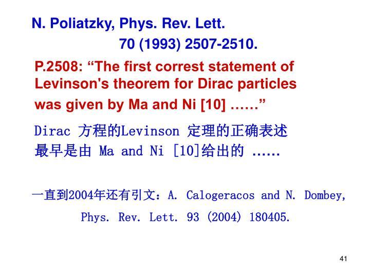 N. Poliatzky, Phys. Rev. Lett.