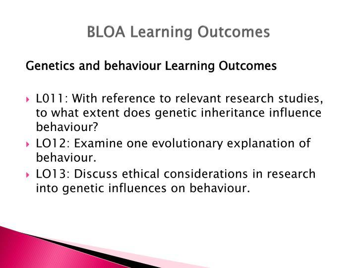 BLOA Learning Outcomes