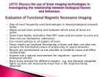 evaluation of functional magnetic resonance imaging