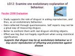 lo12 examine one evolutionary explanation of behaviour4