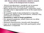 lo4 discuss ethical considerations related to research studies at the biological level of analysis2