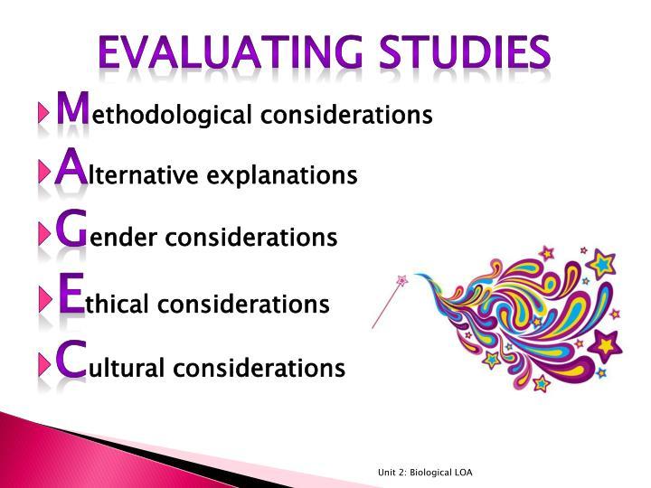 Evaluating Studies