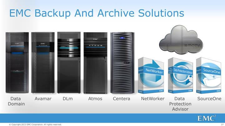 EMC Backup And Archive Solutions
