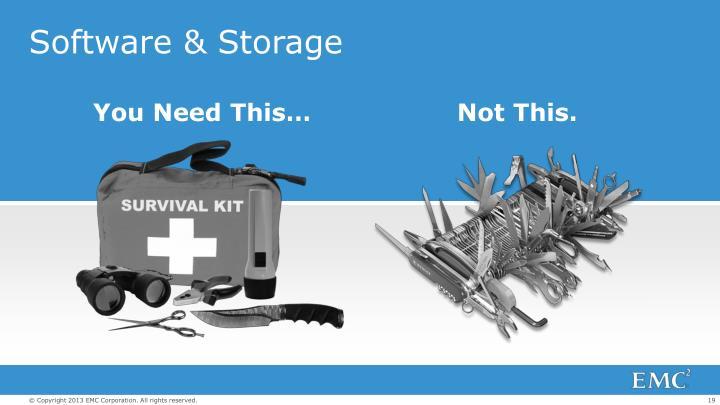 Software & Storage
