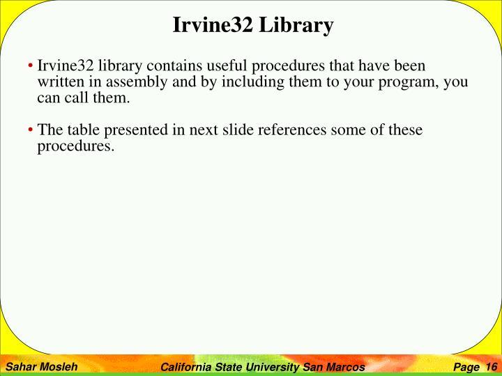Irvine32 Library