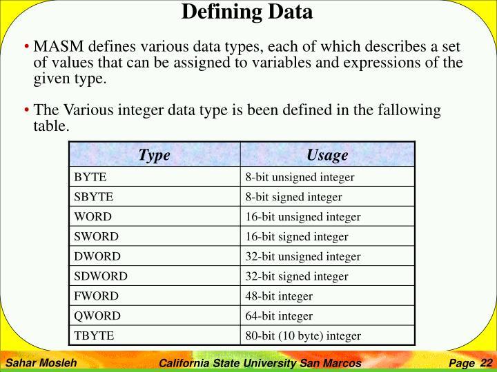 Defining Data