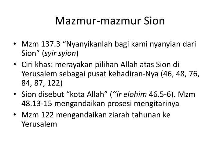 Mazmur-mazmur Sion