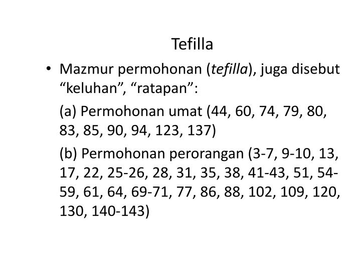 Tefilla