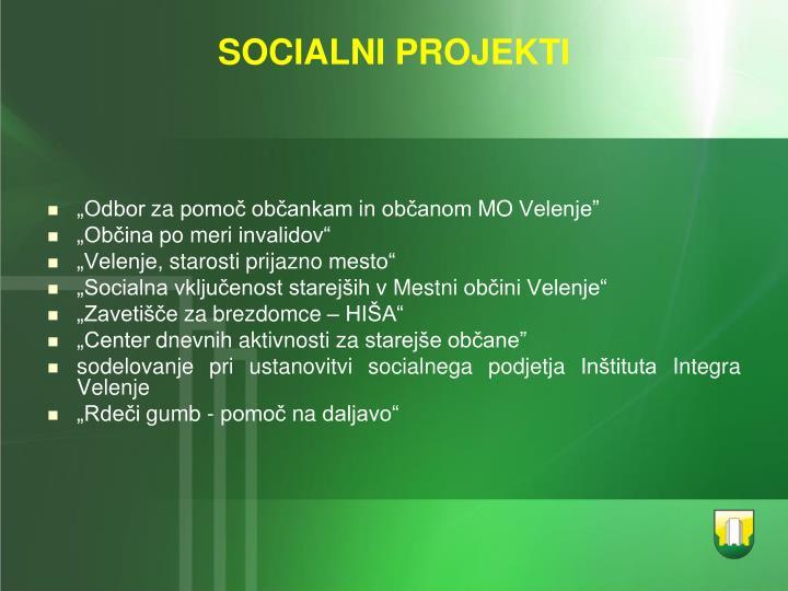 SOCIALNI PROJEKTI