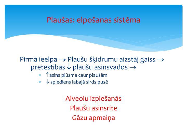 Plaušas: elpošanas sistēma