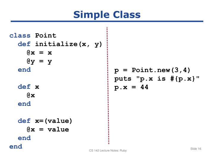 Simple Class