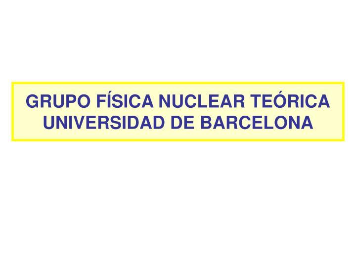 GRUPO FÍSICA NUCLEAR TEÓRICA