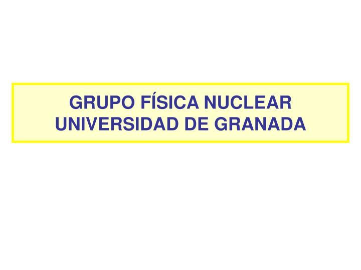 GRUPO FÍSICA NUCLEAR