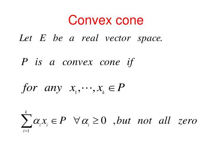 Convex cone