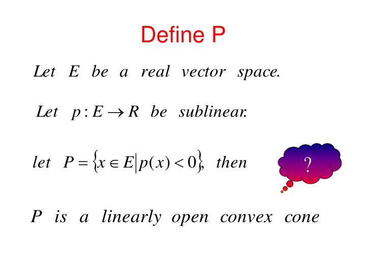 Define P