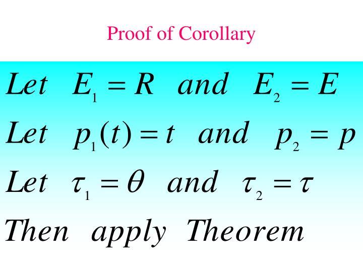 Proof of Corollary