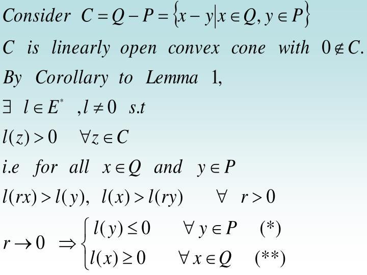 Proof of main Lemma