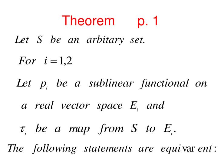Theorem      p. 1