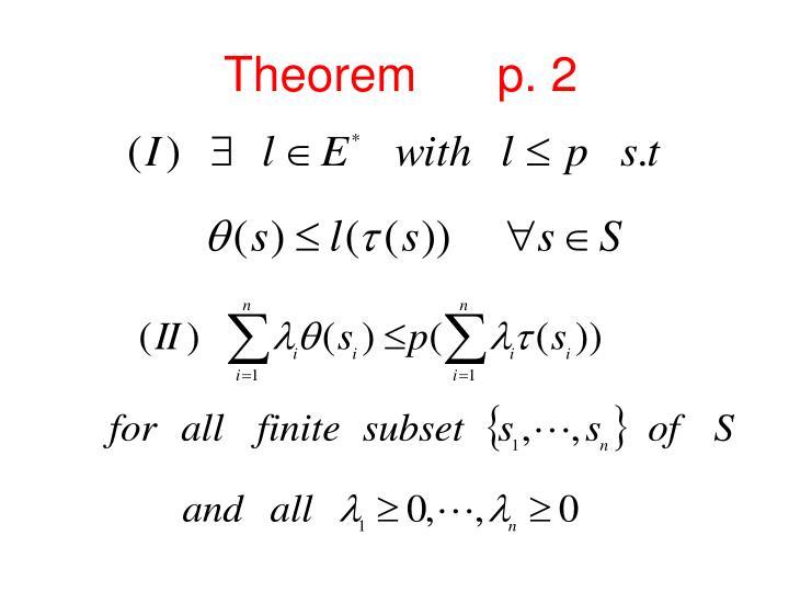 Theorem      p. 2