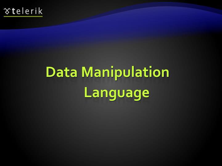 Data Manipulation Language