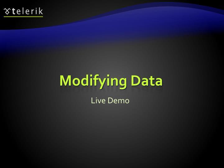 Modifying Data