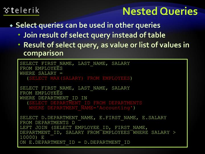 Nested Queries