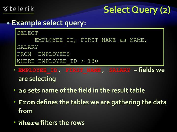 Select Query (2)