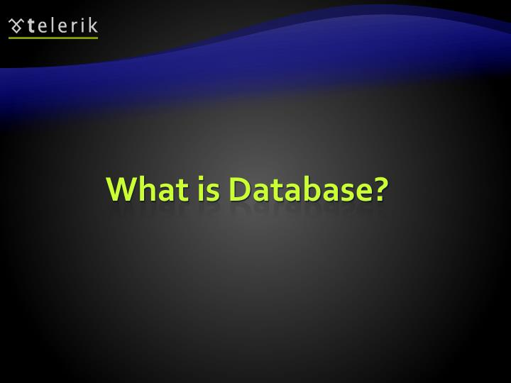 What is Database?