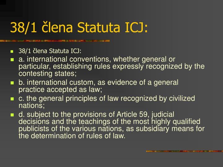 38/1 člena Statuta ICJ: