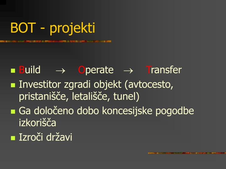 BOT - projekti