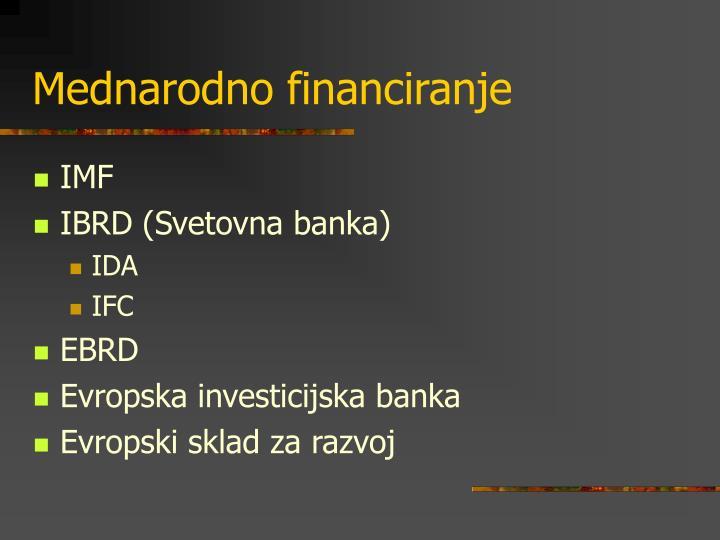 Mednarodno financiranje